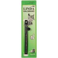 Linda Poezenbandje leder gevoerd  strass Zwart 10mm x 30cm