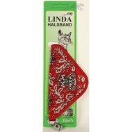Linda Poezenbandje Suede zakdoek & bel Rood 10mm x 30cm