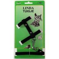 Linda Lijn  Poezentuigje Zwart 10mm x 100cm