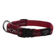 Rogz Beach Bum Halsband Heart Rood 20mm - 3/4