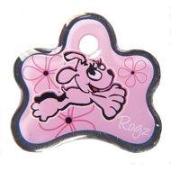 Rogz ID Tag Pupz Pink Bone S