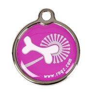 Rogz ID Tag Metal Pink Bone