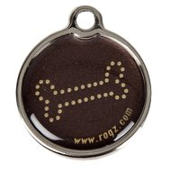 Rogz ID Tag Large Metal Bronze Bone L