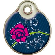 Rogz ID Tag Denim Roze