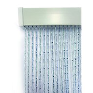 Agradi Fliegenvorhang PVC Transparent/Grau/Blau 90x220cm