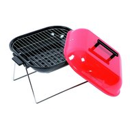 Barbecue laag vierkant zwart-rood