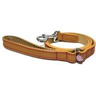 Luxury Leather Looplijn Hond Zand Studs 10 Mm X 100cm