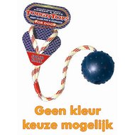 Happy Pet Tough Toys Rubber Bal Aan Werptouw Large 22x6x6cm