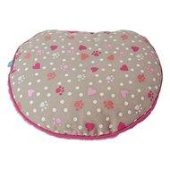 Lief! Kattenkussen Voor Koffer Girls Beige/roze 40x35x10cm