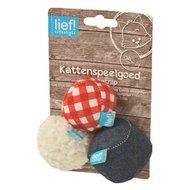 Lief! Softbal Uni Met Catnip Blauw/Rood/wit 6cm