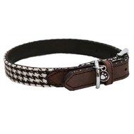 Wag n Walk Halsband Hond Houndstooth Bruin / Wit