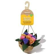 Rosewood Floral Hanging Basket 12x12x30cm