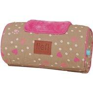 Lief! Comfort Kussen Hout Hondmand Girls Beige/roze 30x15cm