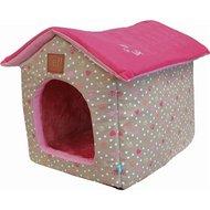 Lief! Hondenmand/kattenmand Huis Girls Beige/roze 45x35x42cm