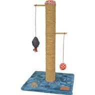 Lief! Kratzbaum Unisex mit Ball und Fisch Blau/Rot