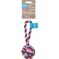 Lief! Hondenspeelgoed Flossbal Unisex Rood/wit/Blauw 19cm