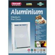 PetSafe Hondenluik M tot 18kg Aluminium/Wit 620ML
