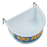 Happy Pet Voerbak Half Rond Wit Large 11.5x8.5x6.5cm