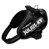 Julius K9 Power-harnas/tuig voor Labels Zwart