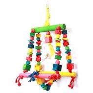 Happy Pet Speelgoed Double Swing Papegaai 25x44cm