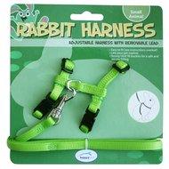 Happy Pet Konijnen Harnas En Looplijn Groen 20-30cm 25-40cm
