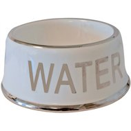 Voerbak Hond Water Wit/zilver 18cm