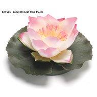 Velda Treibende Blume Lotus on Leaf Pink