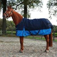 HKM Regendeken Professional Fleecevoering Blauw/Lichtblauw