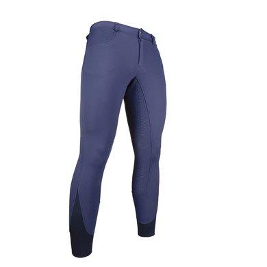 HKM Pantalon d'Équitation Classic Hommes Coquille Souple Bleu foncé 56