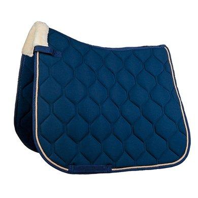HKM Tapis de Selle Elegance Dressage Bleu foncé Poney