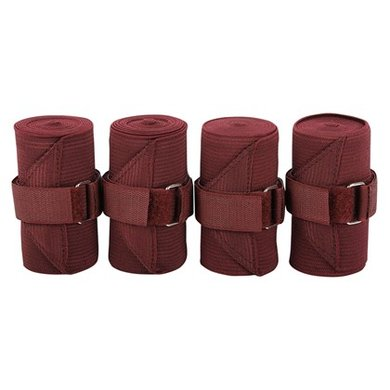 Harrys Horse Elastic/fleece Bandages Bordeaux