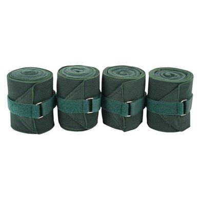 Harrys Horse Bandages Élastique avec Fleece Vert 4 Pièce