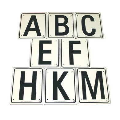 Imperial Riding Manege Letters Set of 8 16 x 19