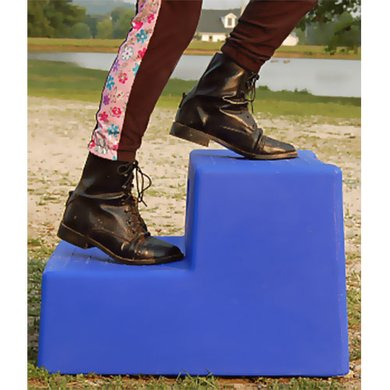 Horsemens Pride Mounting Step, two Step Blue
