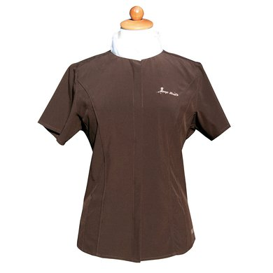 Harrys Horse Showshirt Korte Mouw SU11 Seal Brown XS