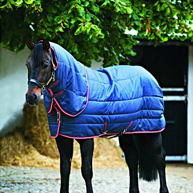 Amigo Stable Rug Vari-layer Plus Medium Navy - Red