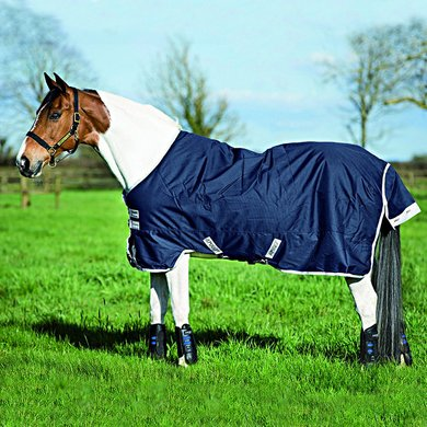 Amigo Pony Bravo-12 Turnout Medium Navy/Silver 75/115
