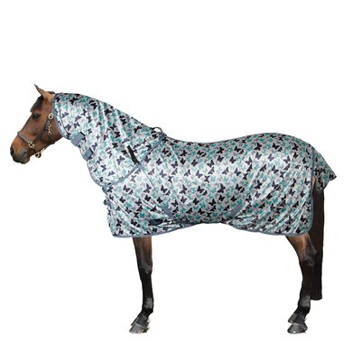 Harrys Horse Fly Rug Butterfly with Loose Neck Grey