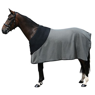 Pfiff Fleece Rug Black - Grey