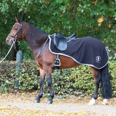 BR Quarter Rug Event Fleece 380g 1 Sided Black