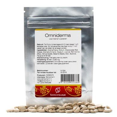 Sensipharm Omniderma - Kleine Huisdieren 90 tabl. a 250 mg
