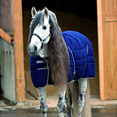 Rambo Stable Rug Navy White