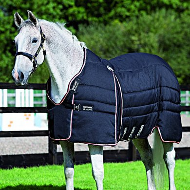 Rambo Optimo Stable Rug 400gr Black orange