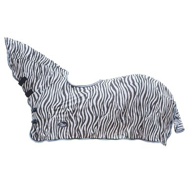Harrys Horse Flysheet Mesh with Neck and Saddle Cutout Zebra