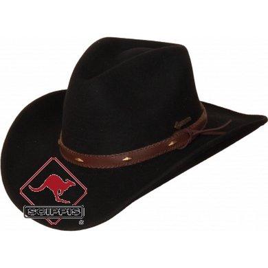 Scippis Westernhoed van wol Dixon zwart XL