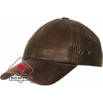 Scippis Outdoor Leather Cap bruin S/M