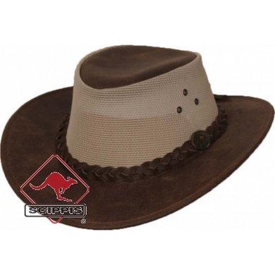Scippis Lederen hoed Darwin tan S