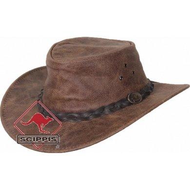 Scippis Lederen hoed Enfield vinatge brown L