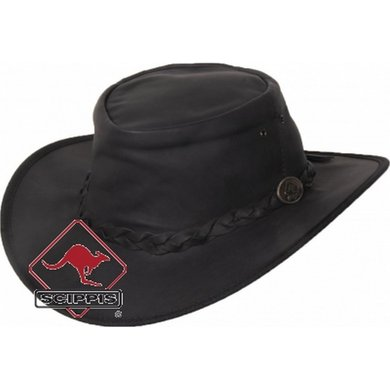 Scippis Kangaroo Lederen hoed Dawson bruin S