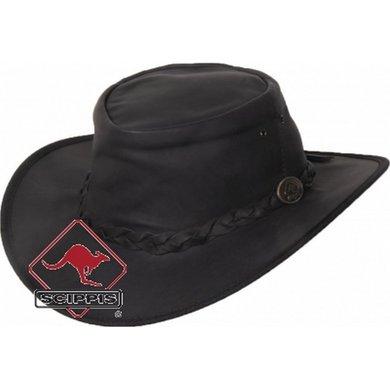 Scippis Kangaroo Lederen hoed Dawson zwart L